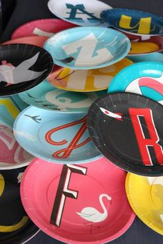 A to Z Mid Century Modern Paper Plates