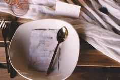 Calligraphy wedding menu and gold cutlery | Captured By Keryn | see more on: http://burnettsboards.com/2016/02/dramatic-romantic-ocean-cave-ballet/