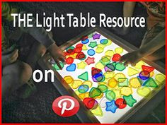 Epic Childhood - Reggio, Light Table Play, and Light Play Sensory Table, Sensory Play, Diy Light Table, Light Board, Light Panel, Messy Play, Kids Lighting, Light And Shadow, Kids Playing