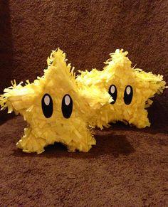 Set of 5-  Mario super star mini piñata/ party favor