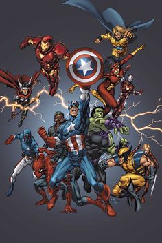 Marvel Universe by TOM GRUMMETT & MORRY HOLLOWELL
