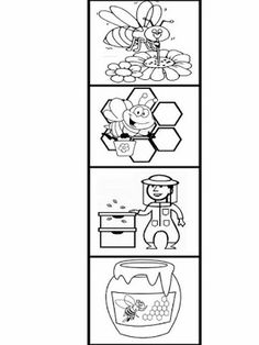 Bee Activities, Creative Activities For Kids, Kindergarten Activities, Bee Crafts For Kids, Bug Crafts, Preschool Garden, Preschool Crafts, Bee Coloring Pages, Bee Art