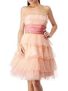 betsey johnson blush colored cocktail dress