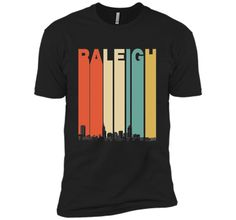 Vintage 1970's Style Raleigh North Carolina Skyline T-Shirt t-shirt