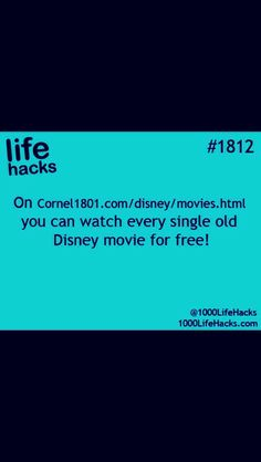 disney movies free Essential Life Hacks & How-to's You Need In Your Life. Simple Life Hacks, Useful Life Hacks, Awesome Life Hacks, Life Hacks Websites, Hack My Life, The More You Know, Good To Know, Future Life, Things To Know