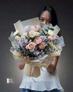 Rose Bouquet, Flower Bouquets, Flowers, Red And White Roses, Rainbow Roses, David Austin Roses, Lilac, Pink, Nude Color