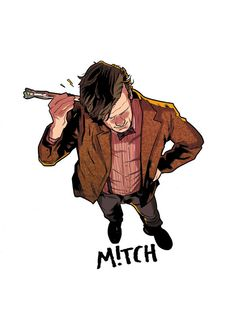 mitch gerads comic illustrations are awesome! Doctor Who Poster, Doctor Who Fan Art, All Doctor Who, Eleventh Doctor, Mitch Gerads, Rory Williams, Amy Pond, Jenna Coleman, Torchwood