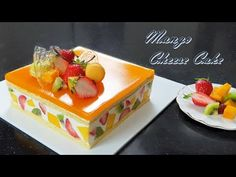 How to make mango cheesecake / mango jelly / Recipe / Fruits cake Mango Desserts, Mango Recipes, Jelly Recipes, Asian Desserts, Just Desserts, Sweet Recipes, Dessert Recipes, Dessert Mousse, Asian Cake