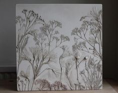 I am so in love with these beautiful artworks made of plaster by artist Rachel Dein Ceramic Techniques, Art Techniques, Pop Art Bilder, Plaster Art, Unique Tile, Paperclay, Botanical Art, Beautiful Artwork, Clay Art
