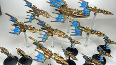 Another fleet finished for Battlefleet Gothic, this time the Eldar, one of my favorite races in the Warhammer universe.