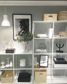 In our VITTSJÖ shelf, your favorite pieces will come into their own . My Living Room, Interior Design Living Room, Living Room Designs, Living Room Decor, Interior Livingroom, Kitchen Interior, Ikea Vittsjo, Ideas Para Organizar, My New Room