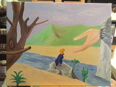 """5 ème étape, c'est parti pour les détails !  """"La passion en héritage """" (peinture à l'huile sur toile) <3 Passion, Voici, Painting, Oil On Canvas, Acrylic Paintings, Board, Paintings, Draw, Drawings"""