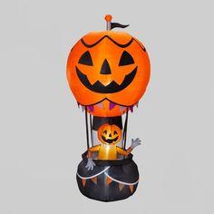 Pumpkin Head, A Pumpkin, Pumpkin Carving, Festival Decorations, Balloon Decorations, Halloween Decorations, Welches Fruit Snacks, Inflatable Pumpkin, Lantern String Lights