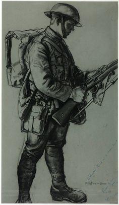 Eric Kennington, 'A Bantam Hercules' 1917