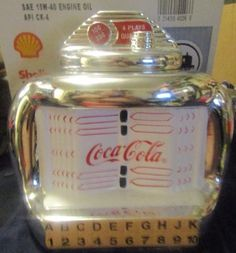 Coca Cola Juke Box Cookie Jar Chrome Plated Gibson 2000 Coke The Real Thing | Collectibles, Advertising, Soda | eBay!