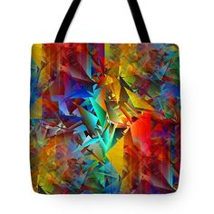Colorful Crash 11 Tote Bag by Chris Butler.  #totebag #bag #abstract #colorful #design #art #Lifestyle