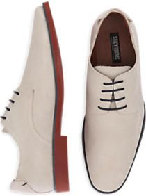 Stacy Adams Tremain Bone Suede Lace Up Shoes