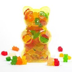 Dylan's Candy Bar Filled Gummy Bear Container - Yellow