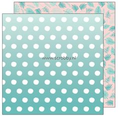 American Crafts Dear Lizzy Happy Place double sided cardstock Bermuda | €0.90