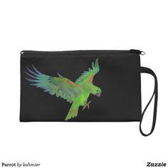 Parrot Wristlet Purs
