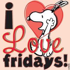 Snoopy on Fridays. Peanuts Cartoon, Peanuts Snoopy, Peanuts Movie, Peanuts Comics, Viernes Friday, Hello Kitty Imagenes, Happy Friday Quotes, Friday Jokes, Messages