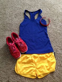 Getting ready for a Disney Race. What do you think Katie? Want to dress up next year?