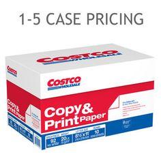 Costco Copy Paper, Letter, 20lb, 92-Bright, 5,000ct 1-5 Case Pricing CS1 677771