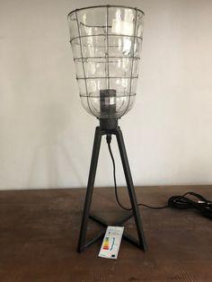Tafellamp Ø 18 cm 53 cm hoog Metaal/Glas Decor, Lamp, Home Decor, Lighting