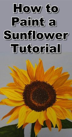 Sunflowers are very popular subjects to paint so today we will learn how to do just that. During the class you will learn How to approach complex petal structures, 2) How to paint the seeds, 3) How to paint the leaves. https://www.youtube.com/watch?v=sNPMFVdg0z4  To follow the real time paint along version of this class you can visit our website: http://onlineartlessons.com/how-to-paint-sunflowers-in-oil/  how to paint sunflowers, flower painting lessons, flower painting tutorials, flower…