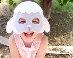 Lamb Costume Sewing Pattern DIY Sheep Mask by DollsAndDaydreams