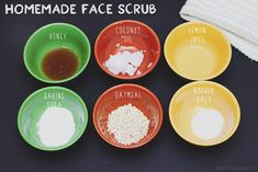 Homemade 6 Ingredient Face Scrub. Just did this and it is awesome! No oil residue and glowing skin!!!