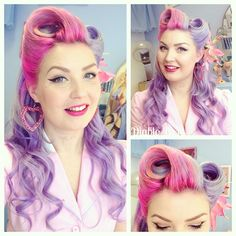 """thediablorose: """"Today's big hair and accessories: extensions . Earrings bought from a random hair shop in America (sorry) . Pin Up Hair, Big Hair, Fancy Hairstyles, Vintage Hairstyles, Estilo Pin Up, Rockabilly Hair, Hair Shop, Fantasy Hair, Pin Up Style"""