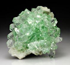 Apophyllite-(KF) with Stilbite / Mineral Friends <3