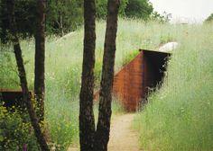 Hidden entrance made of CoreTen steel. B L O O D A N D C H A M P A G N E . C O M: