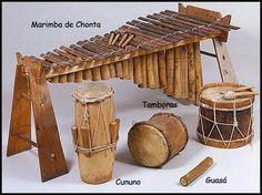 Marimbas y tambores