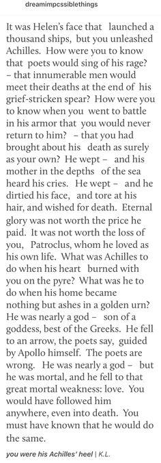 #Patrochilles #Achilles #Patroclus #TSOA #TheSongOfAchilles #GreekMythology