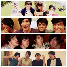 danisnotonfire, AmazingPhil, crabstickz, kickthepj. Is it sad that this  is my life summed up in a picture.