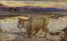 Comparison of a study of the goat for 'The Scapegoat' with the painting by William Holman Hunt. Part of the 'Pre-Raphaelite Drawings' exhibition at the Lady Lever Art Gallery John Everett Millais, Dante Gabriel Rossetti, Thomas Gainsborough, Yom Kippur, Lady Lever Art Gallery, Pre Raphaelite Paintings, William Hogarth, Pre Raphaelite Brotherhood, Walker Art