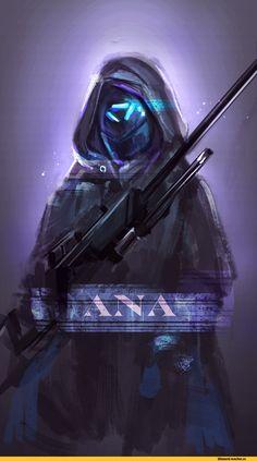 Overwatch,Blizzard,Blizzard Entertainment,фэндомы,Overwatch art,Ana Amari,PT.