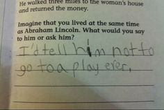 25 Hilarious Kids Who Gave Genius Responses On Their Tests. 42 - https://www.facebook.com/diplyofficial