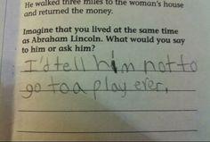 Perde a nota mas não perde a piada. Respostas erradas que mereciam um 10.