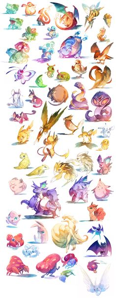 Watercolor Pokémon
