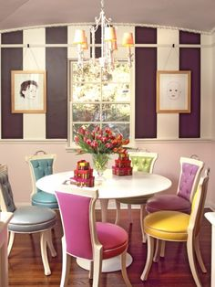 1000 images about dining room chairs and tables on for Funky dining room ideas