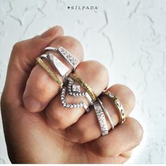 Great mix and match stacking rings! Contact me! Www.mysilpada.ca/stav.gamliel