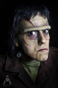 Halloween Makeup Frankenstein by Amanda Chapman https://www.facebook.com/amandachapmanphotography