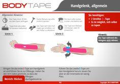 Handgelenk Tapen / Schritt-Für-Schritt Anleitung ✅ Kinesiologie Anleitungen Mehr entdecken: www.bodytape.net
