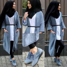 O ina ni keke Hijab Style, Casual Hijab Outfit, Hijab Chic, Islamic Fashion, Muslim Fashion, Modest Fashion, Abaya Fashion, Fashion Wear, Fashion Outfits