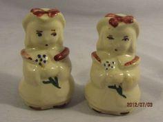 Vintage Shawnee Pottery Bo Peep Salt Pepper Shakers
