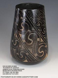 Kahahnee Uhmah In honor of Cahokia Traditional Caddo jar handmade by Chase Kahwinhut Earles