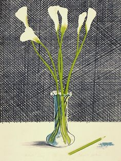 #Painting #Poetry David Hockney: Lilies (1971). Courtesy of David Hockney